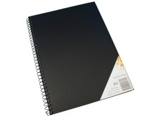 Quill A4 Spiral Black Cover 60Leaf - 120 Page