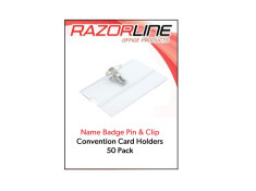 Stat 50 Packet Box of Name Badge & Card with Pin & Clip