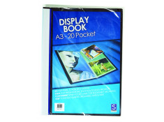 Sovereign A3 Insert Cover Black 20 Pages Display Book