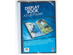 Sovereign A3 Insert Cover Black 20 Pages Display Books
