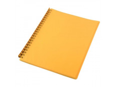 Sovereign A4 Refillable Yellow 20 Pages Display Book