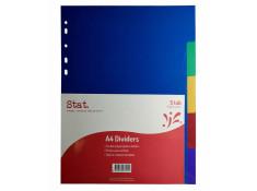 Stat A4 Manilla 5 Tab Multi-Coloured