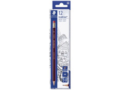 Staedtler Tradition 112 HB with Eraser Tip Lead Pencils