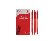 Stat Retractable Ballpoint Pen 1.0mm Medium Red Pens