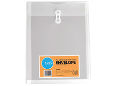 Tudor A4 Poly String and Button Clear Envelope