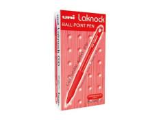 UNI Laknock Retractable Medium Red Pen