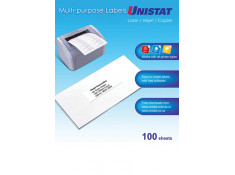 Unistat 38965 Printable Labels 65up 381 x 212mm