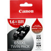 Canon PGI-650XLBK Twin Pack