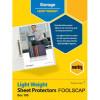 Marbig Foolscap 100 Pack Sheet Protectors